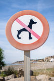 No dogs sign. Stock Photo