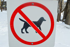 No dogs sign Stock Photos