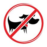 No dogs sign, do not allowed Royalty Free Stock Photo