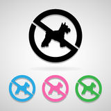 No dogs sign icon great for any use. Vector EPS10. Stock Image