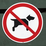 No dogs sign Royalty Free Stock Images