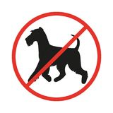 No dogs sign on the white background. royalty free illustration