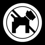 No dogs simple vector icon. Black and white illustration of dog and forbidden sign. Outline linear pet icon. Eps 10 Stock Images