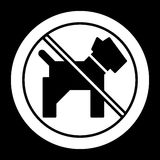 No dogs simple vector icon. Black and white illustration of dog and forbidden sign. Solid linear pet icon. Eps 10 Stock Images
