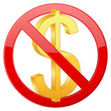 No dollar Royalty Free Stock Image