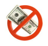 No dollar sign. Financial crisis on a white background Stock Photography
