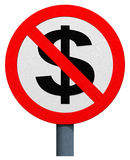 No dollar sign Royalty Free Stock Images