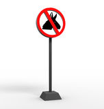 No donkey sign Stock Image