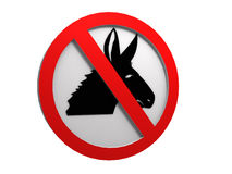 No donkey sign Royalty Free Stock Photography