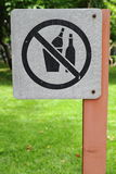 No drink  alcohol sign Royalty Free Stock Photos