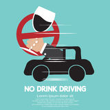 No Drink Driving royalty free illustration