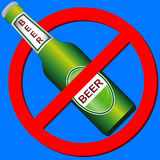 No drink symbol Royalty Free Stock Photo