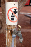 No drinking. Water tap in Australian outback Royalty Free Stock Photos