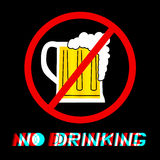 No drinking Royalty Free Stock Images