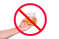 No drinking and drive royalty free stock photo