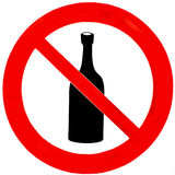 No Drinking Sign. A no drinking sign isolated on white Stock Image