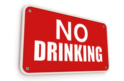 No drinking sign Royalty Free Stock Image