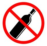 No drinking sign. In white background Royalty Free Illustration