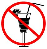 No drinking sign Stock Photography