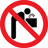 No drinking water sign Stock Image