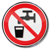 No drinking water Stock Photos