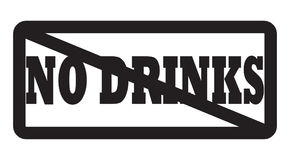 No drinks allowed Royalty Free Stock Photo