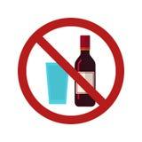No Drinks Royalty Free Stock Photos