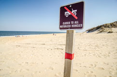 No driving  on beach Stock Image