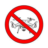 No Drone Area Sign Royalty Free Stock Photos