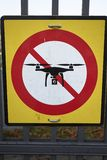 No Drone sign royalty free stock images