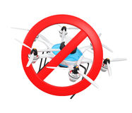 No drone symbol mark for privacy protection concept Stock Images