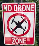 No drone zone sign Royalty Free Stock Photography
