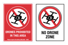 No Drone Zone Royalty Free Stock Photography
