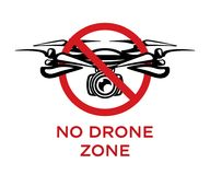 No drone zone vector sign isolated on white background royalty free illustration