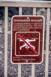 No Drones at Death Valley National Park - DEATH VALLEY, USA - MARCH 29, 2019. No Drones at Death Valley National Park - DEATH VALLEY, UNITED STATES OF AMERICA stock image