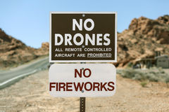 No Drones Sign Royalty Free Stock Photos