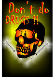 No Drugs. Poster for anti drug project, created in Coreldraw10 Royalty Free Stock Photography