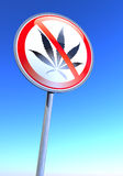 No drugs. Sign against the blue sky Stock Images