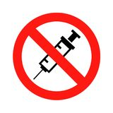 No drugs allowed. Symbol icon vector illustration eps Royalty Free Stock Image