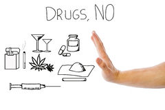 No drugs Stock Image