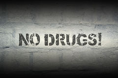 No drugs GR Royalty Free Stock Photography