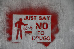 No Drugs. Just say No to Drugs Stock Photo