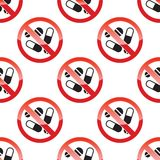 NO DRUGS pattern Stock Image