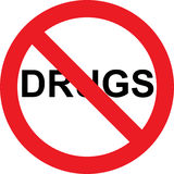 No drugs sign Royalty Free Stock Photos