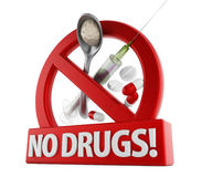 No drugs Royalty Free Stock Photo