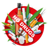 No drugs Stock Photography
