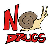 No drugs snail message Stock Images
