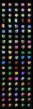 No. du dossier Crystal_100 d'icônes Photos libres de droits