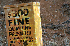 No Dumping Royalty Free Stock Image