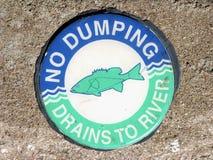 No Dumping. Environmentally sound directive for residents of Durango, Colorado Stock Photos
